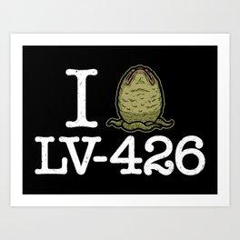 I Love LV-426 Art Print