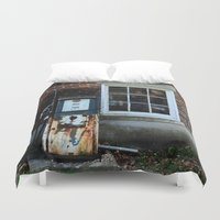pocket fuel Duvet Covers featuring Fuel by 100 Watt Photography