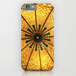 Golden Stained Glass Scales iPhone Case
