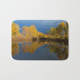Golden light Bath Mat