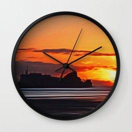 Belfast Ferry (Digital Art) Wall Clock