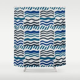 Waves, Cool Shower Curtain