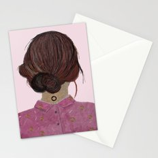 The pink blouse Stationery Cards