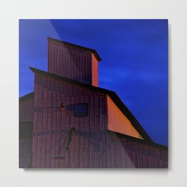 Building forms at midnight Metal Print