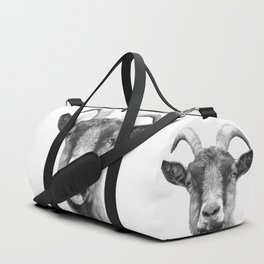 Black and White Goat Duffle Bag