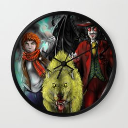 The way of legendsa - mage, lycan and vampire Wall Clock