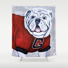 Charmant Georgia Bulldog Uga X College Mascot Shower Curtain