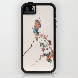 Map of the Philippines / 81 provinces iPhone Case