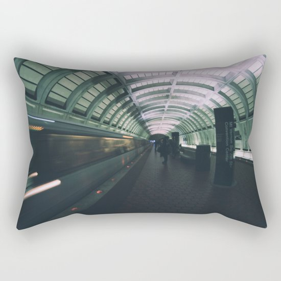 Morning Commute Rectangular Pillow