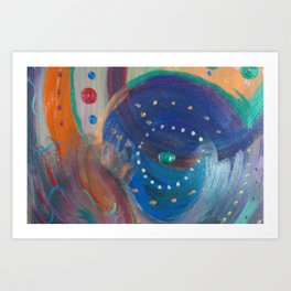 Under the Sea Children's Abstract Art Acrylic on Canvas Art Print