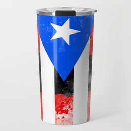 Puerto Rico + Flag Travel Mug