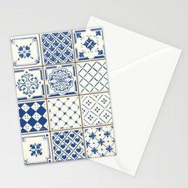 Blue Ceramic Tiles Stationery Cards