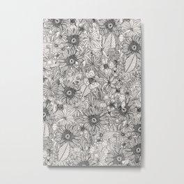 pencil flowers Metal Print