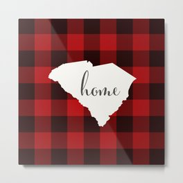 South Carolina is Home - Buffalo Check Plaid Metal Print