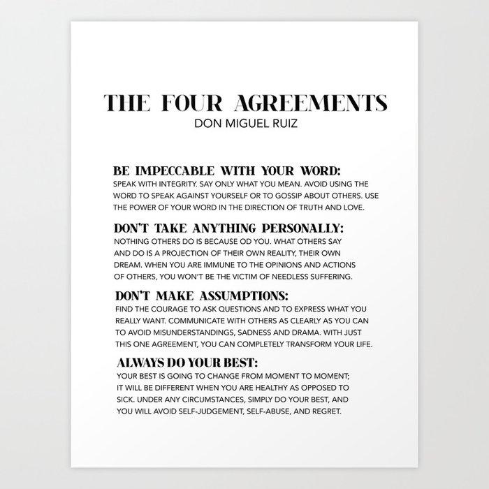 the four agreements Kunstdrucke