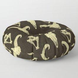Two Skulls Floor Pillow