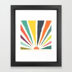 Rainbow ray Framed Art Print