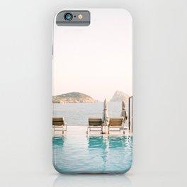 "Travel photography ""Sunset Views"" | Modern wall art Ibiza Es Vedra Spain coast pastel tones  iPhone Case"
