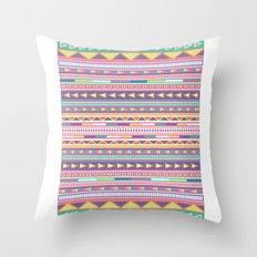 Geometric Pastel Pattern Throw Pillow