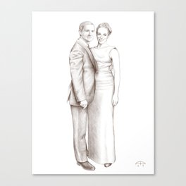 Martin Freeman and Amanda Abbington Canvas Print
