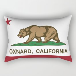 Oxnard California Republic Flag Rectangular Pillow