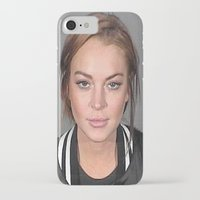 lindsay lohan iPhone & iPod Cases featuring Lindsay Lohan by Neon Monsters