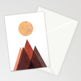 Terracotta Mid Century Mountain Print Stationery Cards