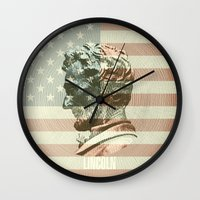 lincoln Wall Clocks featuring Lincoln by Gusvili