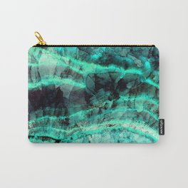 Turquoise onyx marble Carry-All Pouch