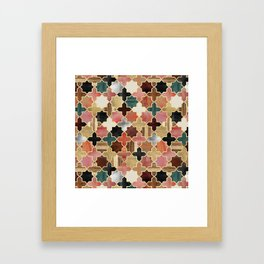 Twilight Moroccan Framed Art Print