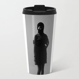 B with ski mask Travel Mug