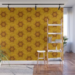 Yellow Flower Chain Pattern Wall Mural