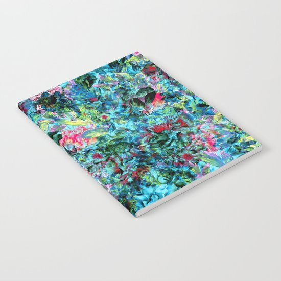 Abstract Floral Chaos Notebook
