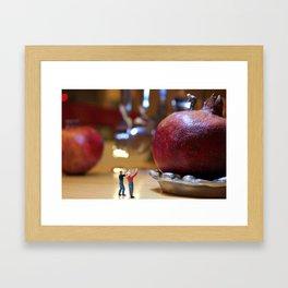 Kitchen Calamity  Framed Art Print