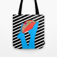 taco Tote Bags featuring Taco Time by Tyler Spangler
