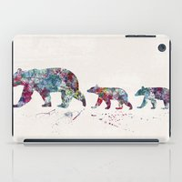 bears iPad Cases featuring Bears by Watercolorist