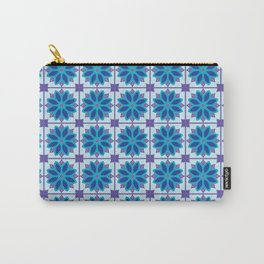 Mediterranean Tile Pattern blue and purple Carry-All Pouch