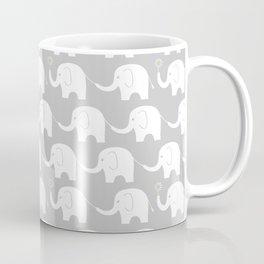 Elephant Parade on Grey Coffee Mug