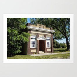 Beautiful Brick Building, Roy Montana Art Print