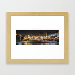 Hermosa Night Life Framed Art Print