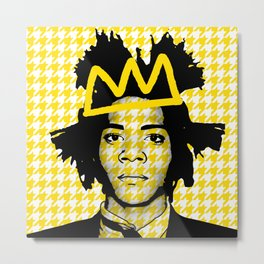 BASQUIAT YELLOW Metal Print