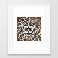 sugar skulls Framed Art Prints featuring Sugar skulls by nicky2342