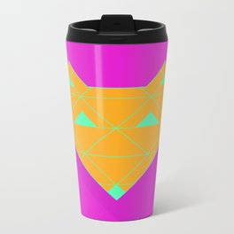 Linear Fox Orange Metal Travel Mug