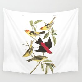 Louisiana Taneger and Scarlet Taneger - Vintage Illustration Wall Tapestry