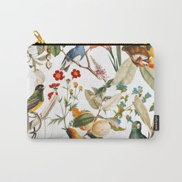 Floral and Birds XXXII Carry-All Pouch
