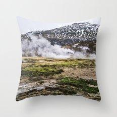 Icelandic Steam Throw Pillow