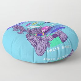 Werewolf Beach Frisbee Floor Pillow