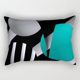 go turquoise -6- Rectangular Pillow