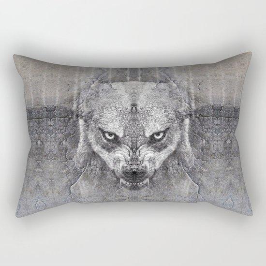 Canis Lupus II Rectangular Pillow