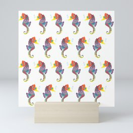 Seahorses Everywhere! Mini Art Print